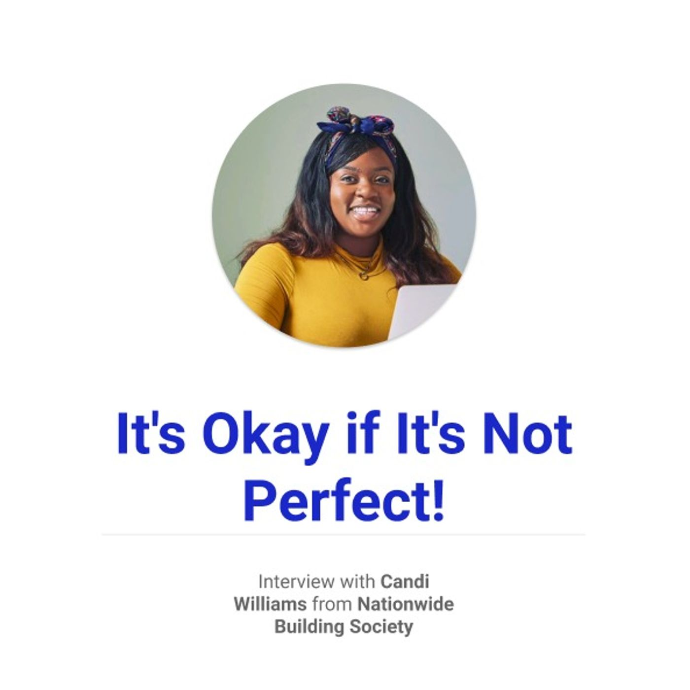 It's okay if it's not perfect!