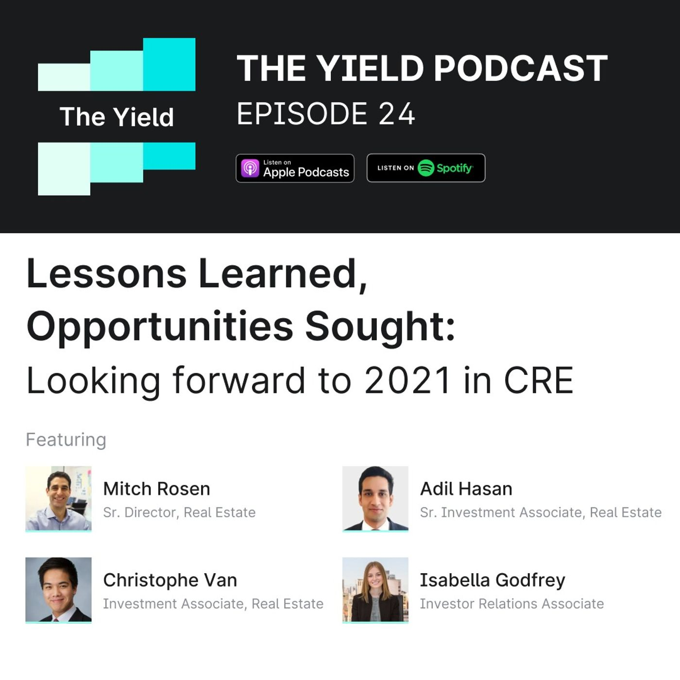 Lessons Learned, Opportunities Sought: Looking forward to 2021 in CRE
