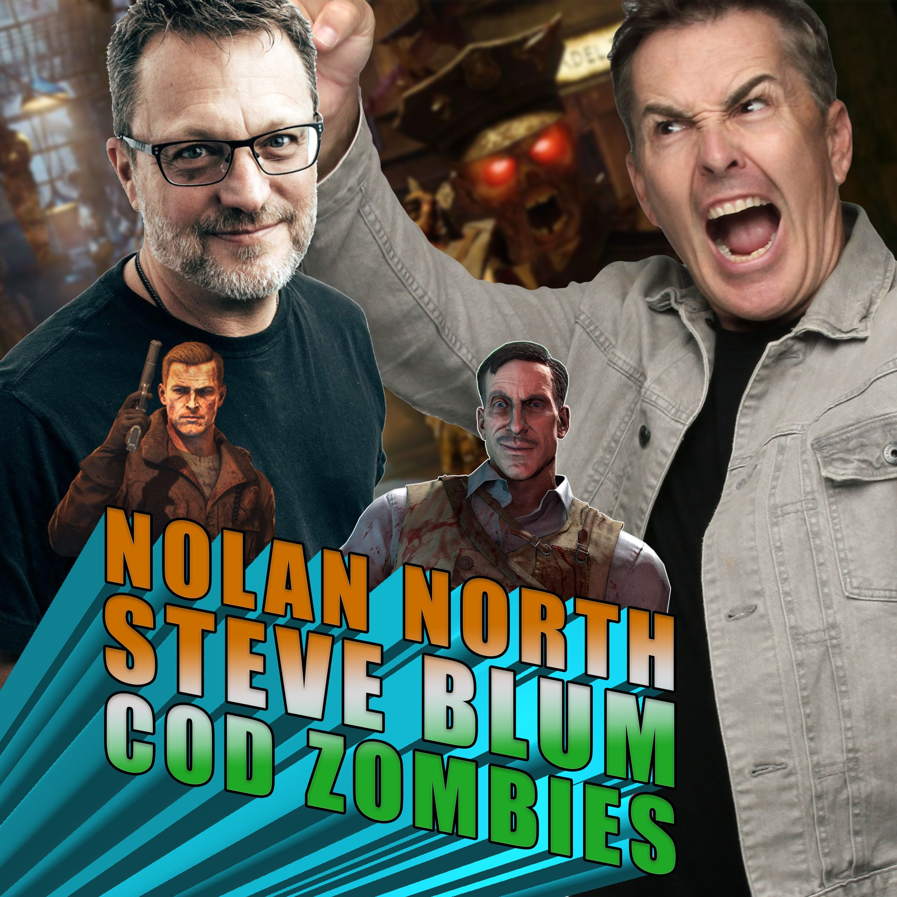 Nolan North and Steve Blum Avoid Zombies in Call of Duty: Zombies | RETRO REPLAY
