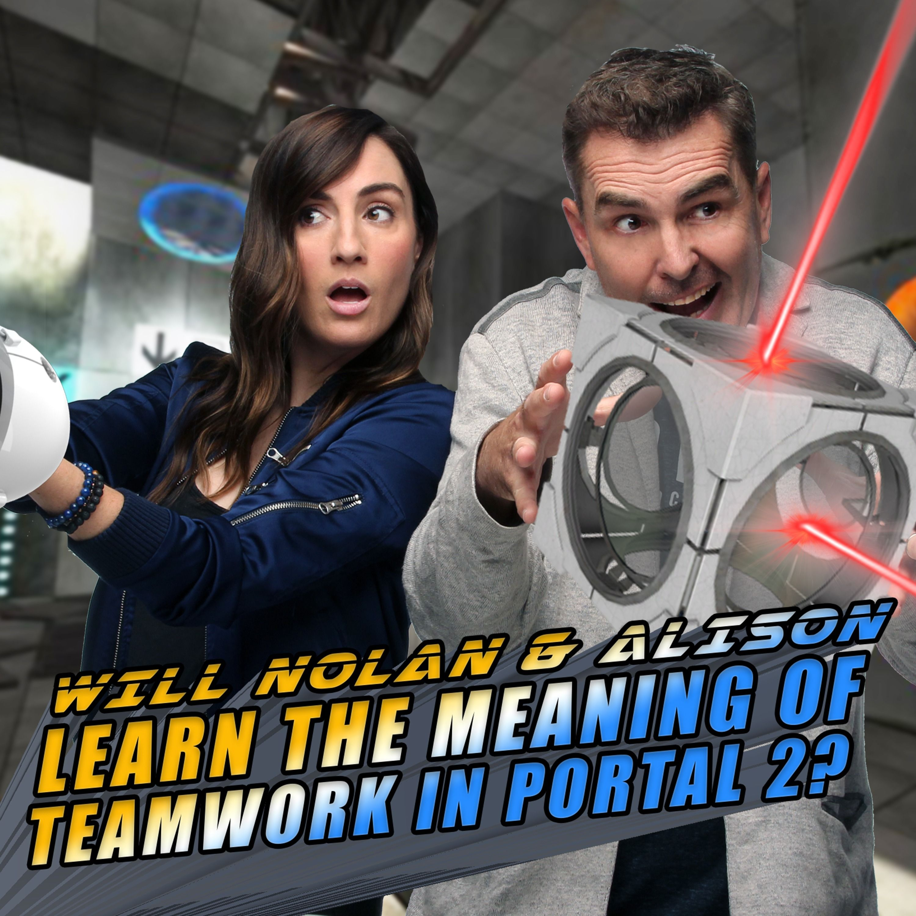 Will Nolan North and Alison Haislip Learn the Meaning of Teamwork in Portal 2? | Retro Replay
