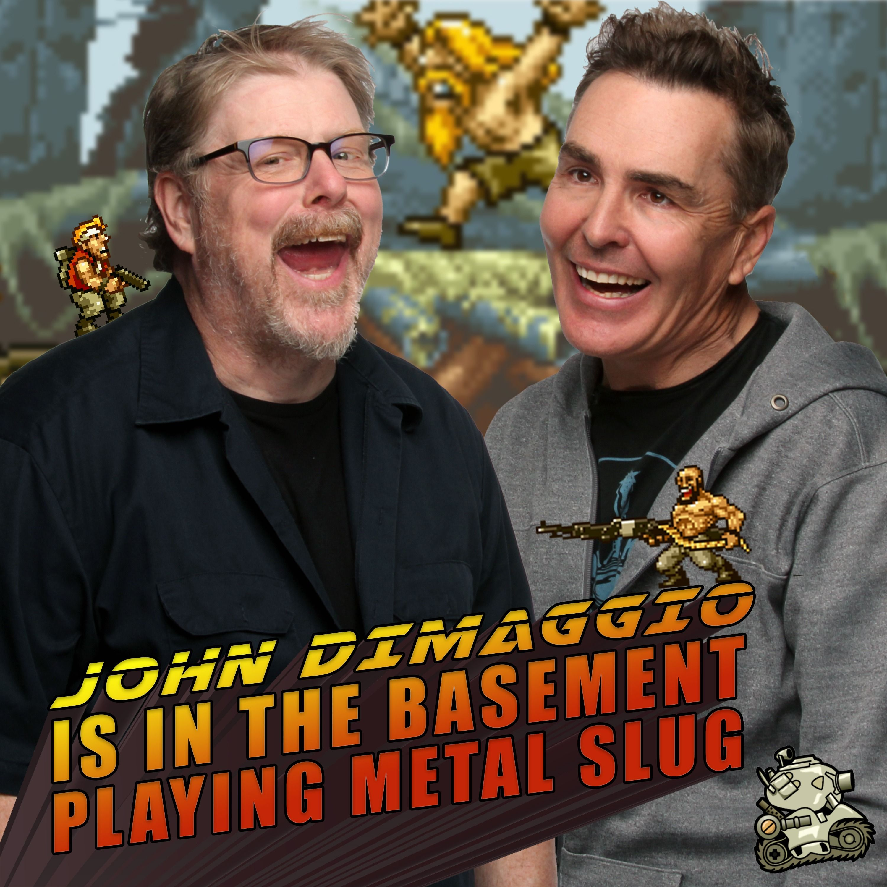 John DiMaggio is in the Basement with Nolan North Playing Metal Slug! | RETRO REPLAY