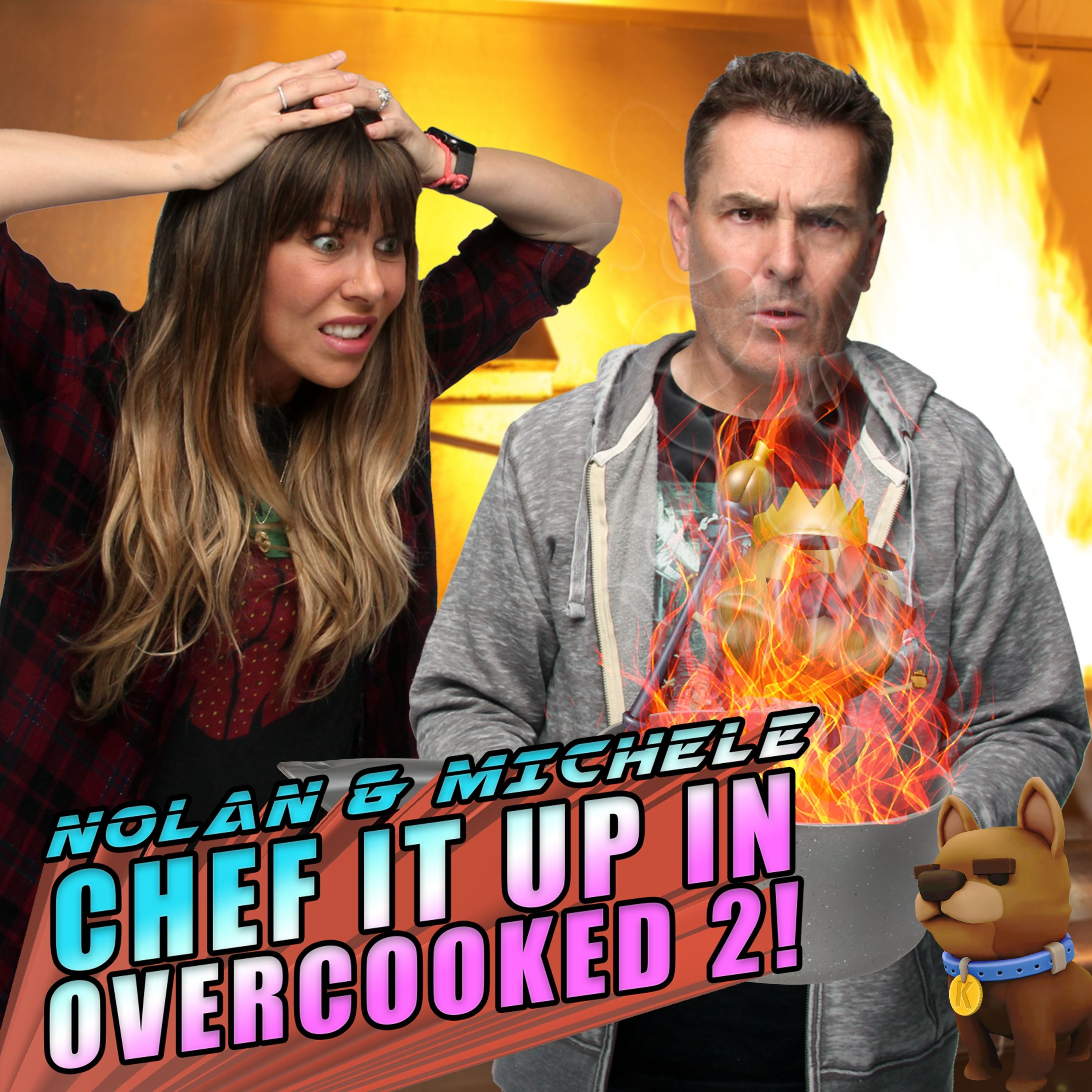 Nolan North and Michele Morrow Chef It Up In Overcooked 2! | RETRO REPLAY
