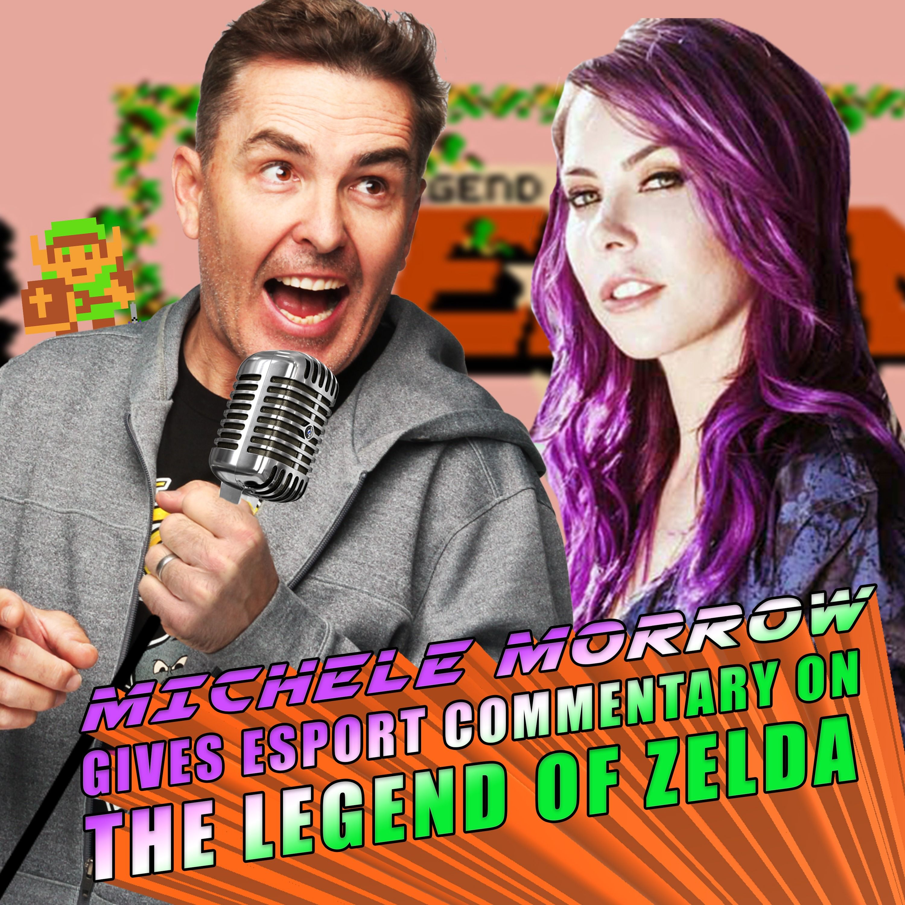 The Legend Of Zelda Esport Commentary With Michele Morrow & Nolan North! | RETRO REPLAY