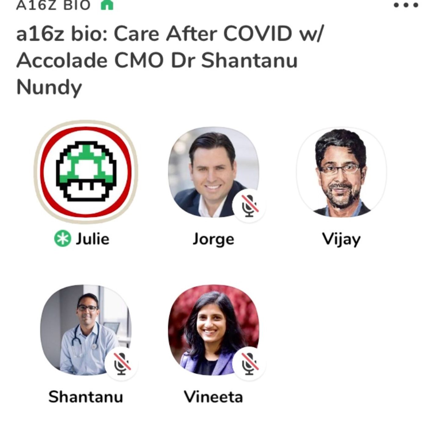 Care After COVID with Shantanu Nundy on the a16z Bio Clubhouse #12