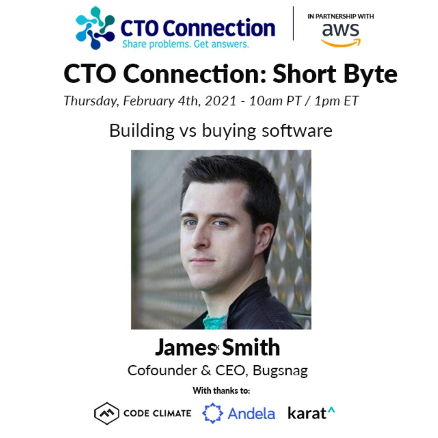 Short Byte: James Smith - Building vs buying software