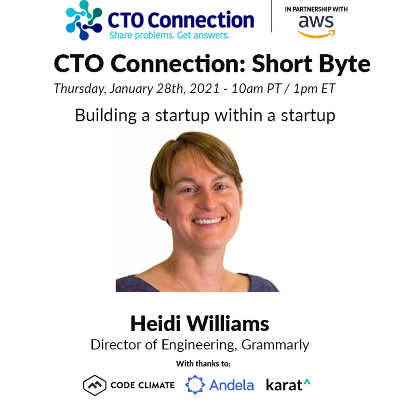 Short Byte: Heidi WIlliams - Building a startup within a startup