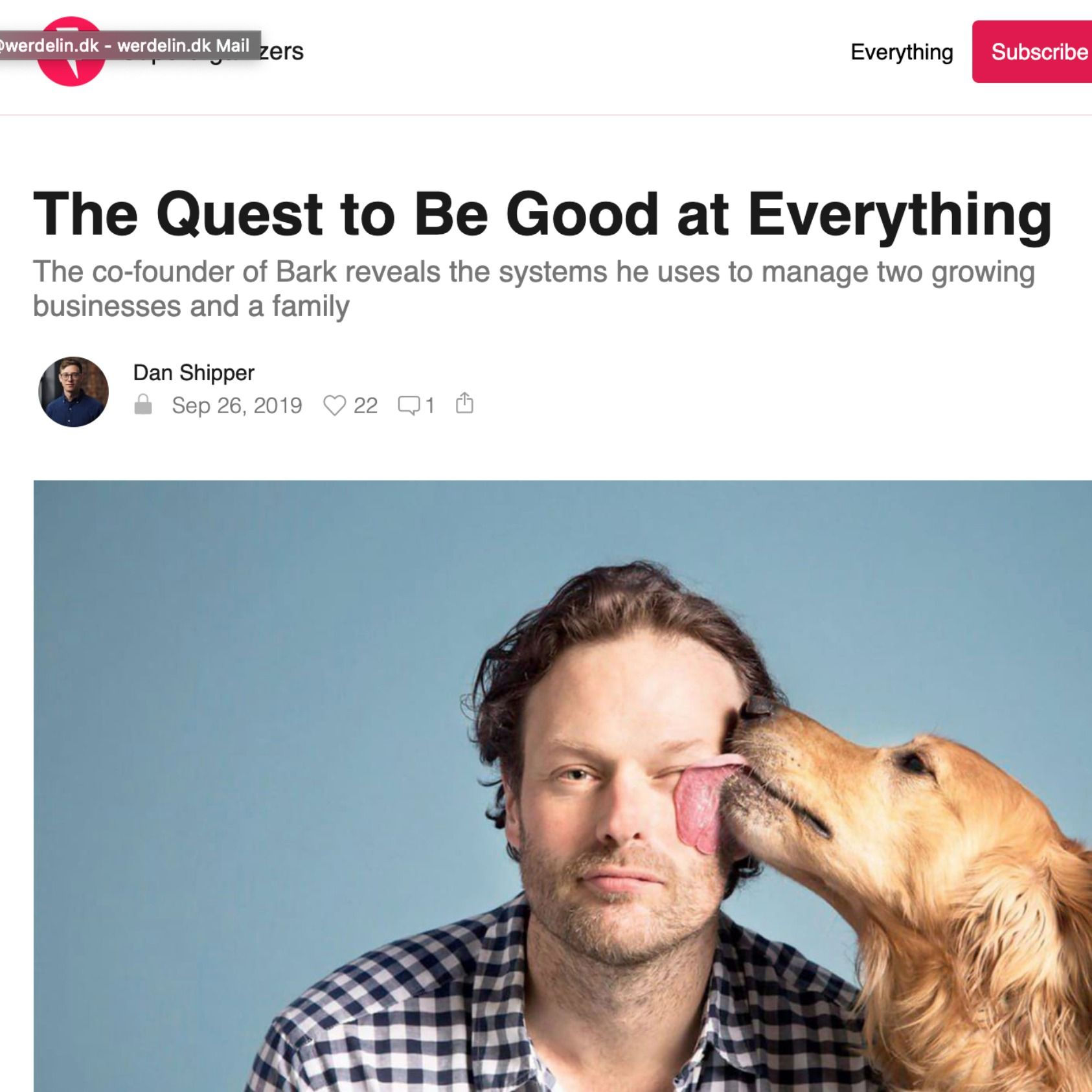 New format: Audio summeries of must read blog posts. First, how to be good at everything from Super Organizers